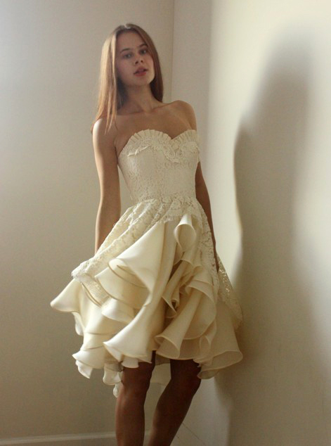 Leanne Marshall Full Ruffle Skirt Marlowe Wedding Dress