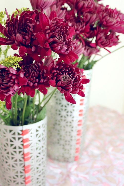 A Simple Spruce Up to Mason Jar Vases