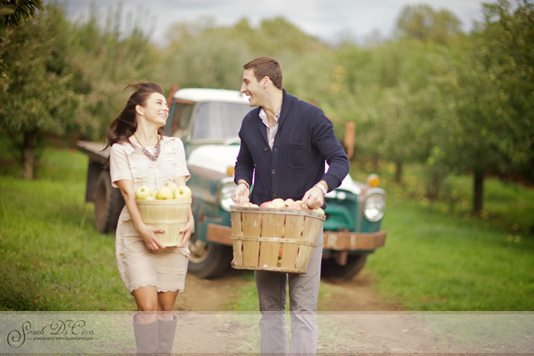 The Apple of Her Eye…An Orchard Engagement Session