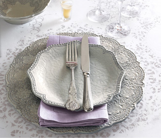 Arte Italica Lace Plates Horchow