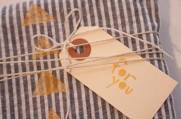 Old Shirt Gift Wrap DIY 3