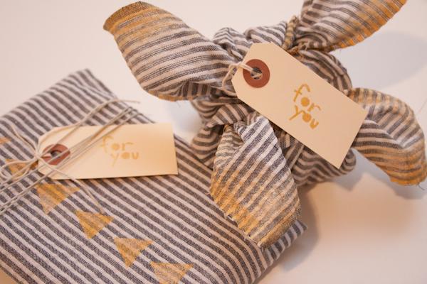 Old Shirt Gift Wrap DIY