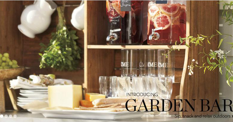 Pottery Barn Garden Bar