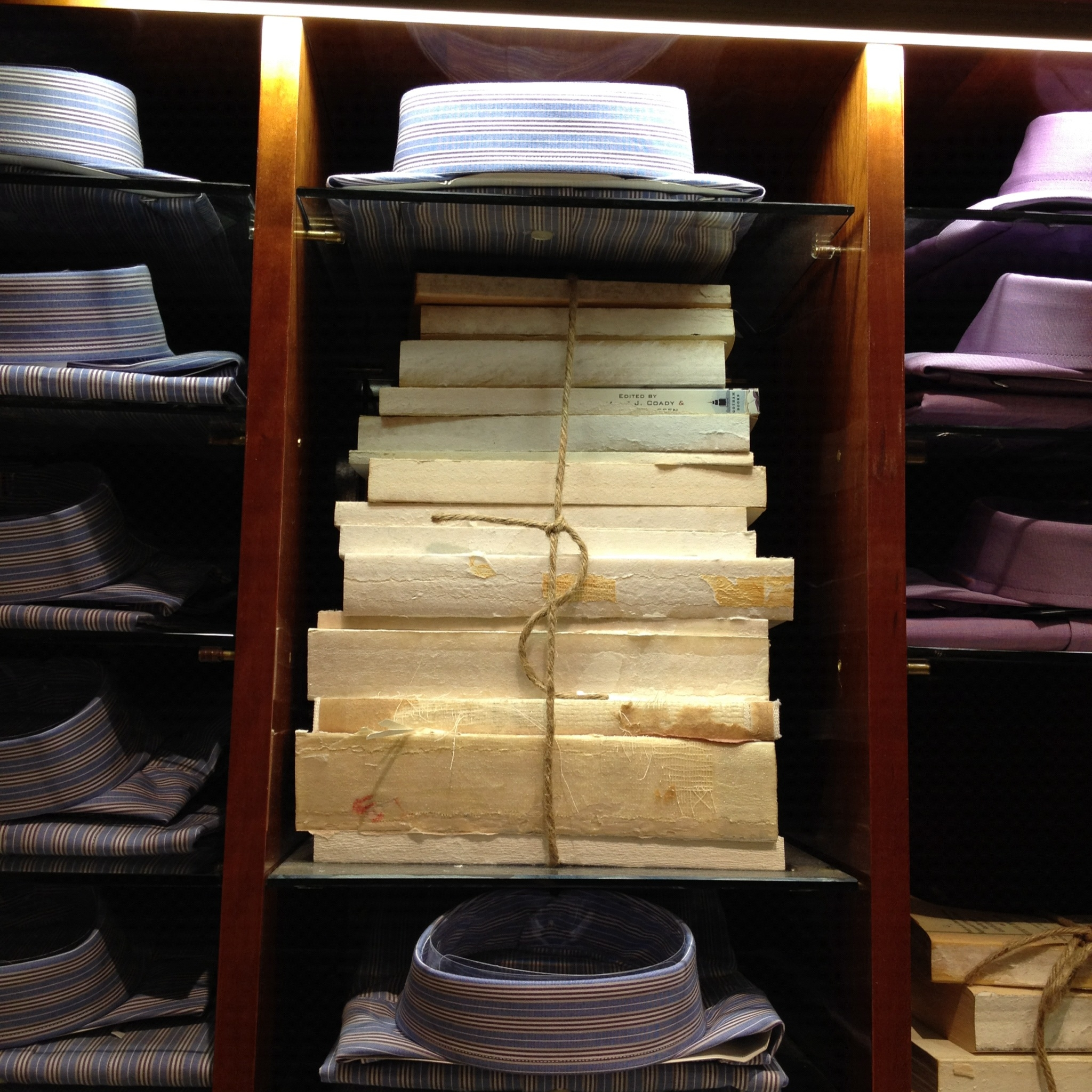 Saks Fifth Avenue Book Stack Styling