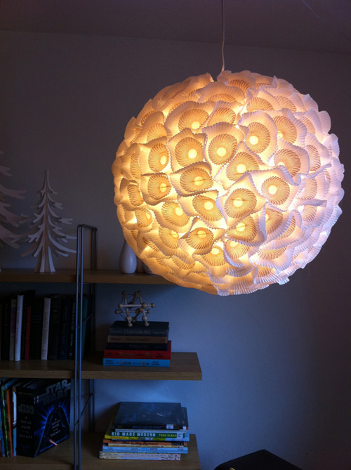 Design Sponge DIY Sculptural Paper Orb Lights