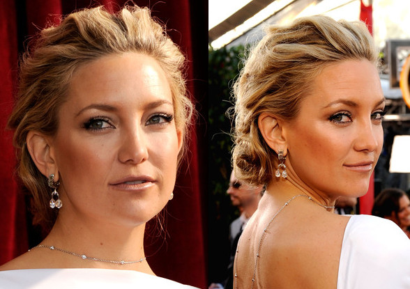 Kate Hudson Texture Updo Low Back