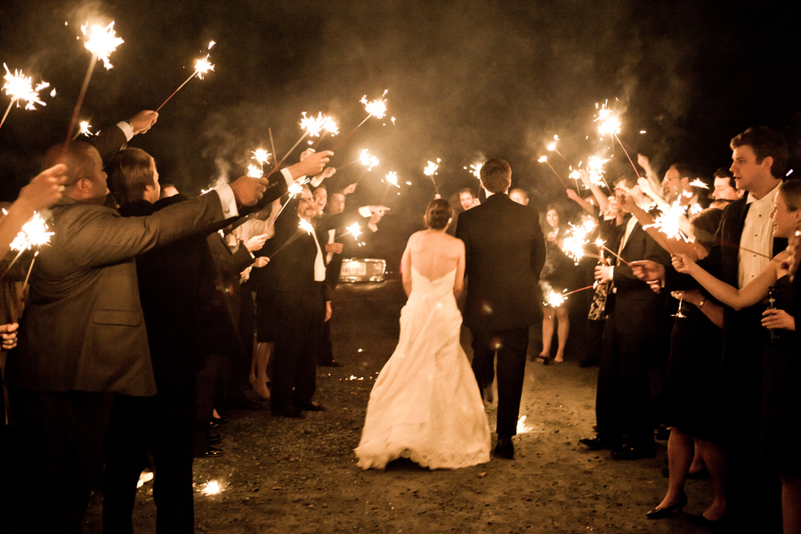 A Classic Virginia Wedding With Outdoor Touches & Sparkler Send Off
