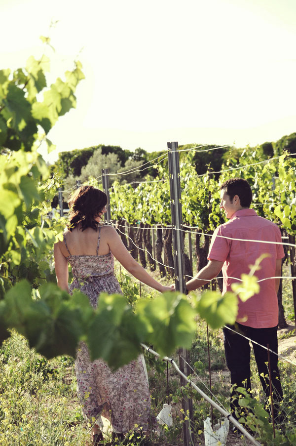 Engagement Love Featuring Cruisers & Gorgeous Vineyards