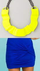 Electric Blue, Bold Yellow, Teal