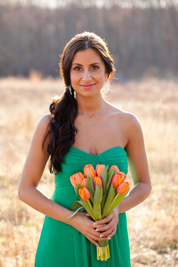 Orange and Green Styled Bridal Inspiration Shoot Candace Jeffery Photography