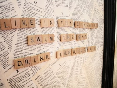 DIY Magnetic Scrabble Board With Vintage Book Page Covering