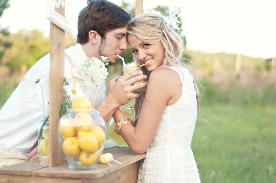 My Favorite Shoot To Date: Throw Back Lazy Summer Days Lemonade Stand-Crush Worthy Engagement Photos