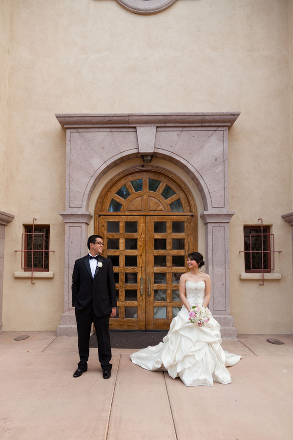 Spanish Mission Inspired Church Serves As Backdrop For This Stunning Luxury Las Vegas Wedding