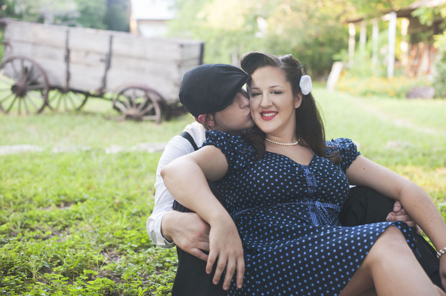 Travel Back to Pre-WWII In This Notebook Inspired Engagement Shoot