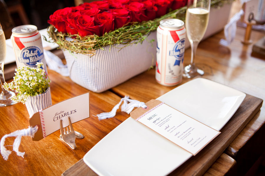 4th of July Inspired Wedding:  Red, White, and Blue Done To Perfection | Photograph by Siegel Thurston Photography
