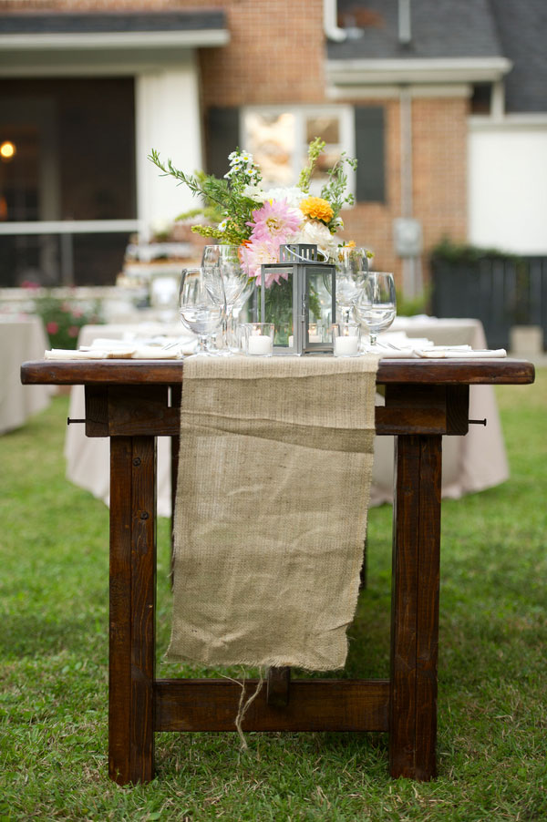 An Intimate Rustic Private Home Wedding With A French Feel & Window Pane Guest Book
