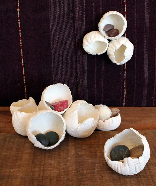 A Dreamy Seascape Detail That Wont Get Stale- Design Sponge DIY Paper Clay Barnacles