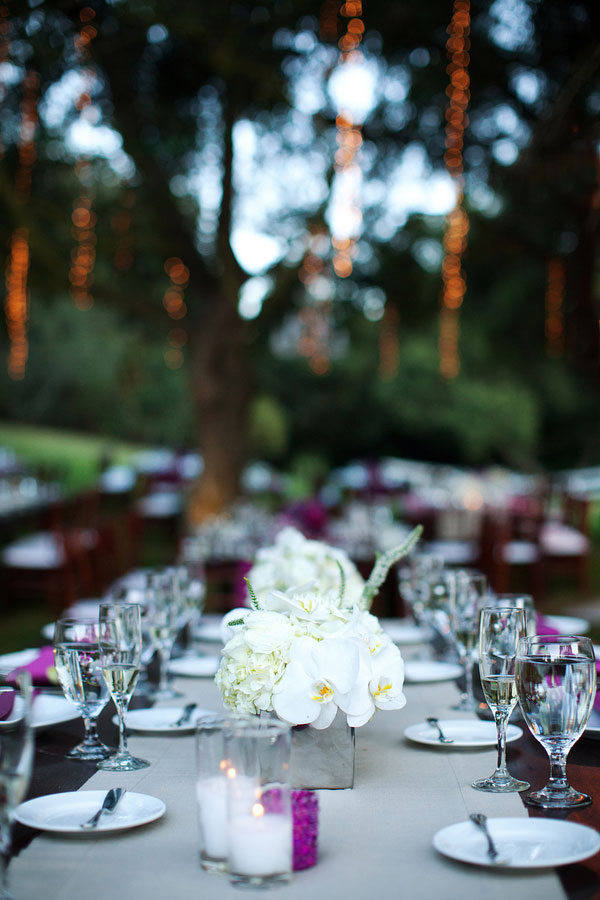 Outdoor Delight Complete With Vibrant Purples, Hanging Chandeliers & Exotic Animals At Saddlerock Ranch | Photograph by Ian Grant Photography