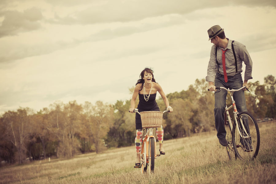 Tour de Fat Beers & Bikes Themed Fort Collins, Colorado Engagement Session