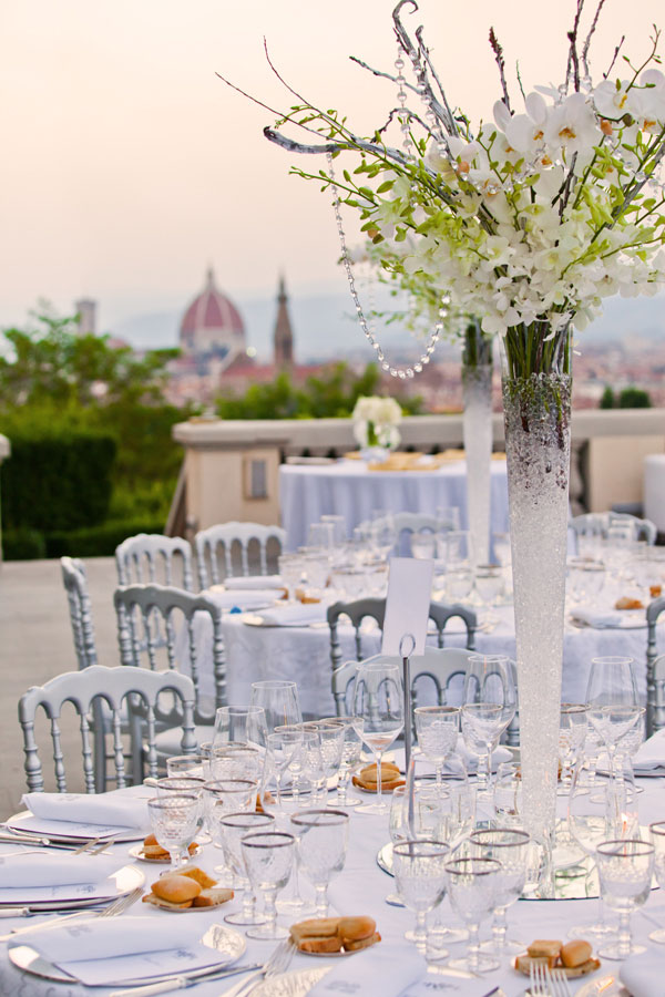 Jaw Dropping Rooftop Views, Crystal Detailing & Lovely Lace for Days In This Florence Italy Luxury Wedding