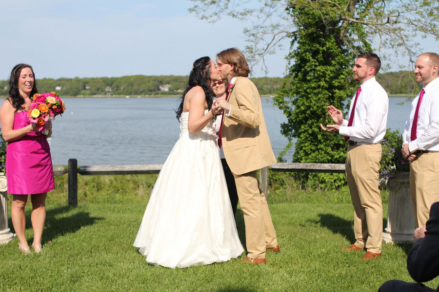 A Fuchsia Filled Cape Cod Wedding In The Amongst The Windmills