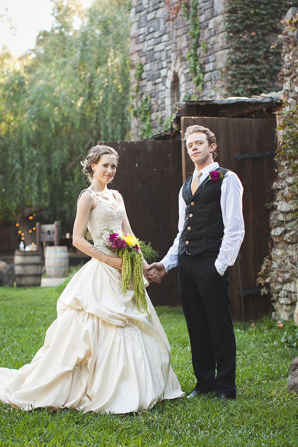 Modern Day Medieval Wedding Featuring Peacocks, Jugglers, & Thrones