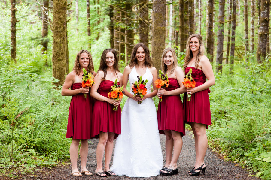 The Tillamook Forest Serves As The Perfect Emerald Backdrop For An Eco Friendly Wedding