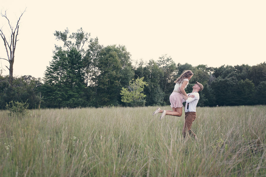 An Anthropologie Inspired Engagement Session In A Sweet Summer Minnesota Meadow