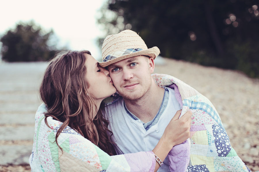 Kayla & Josh Anthropologie Inspried Engagement Shoot Katy Hall Photography