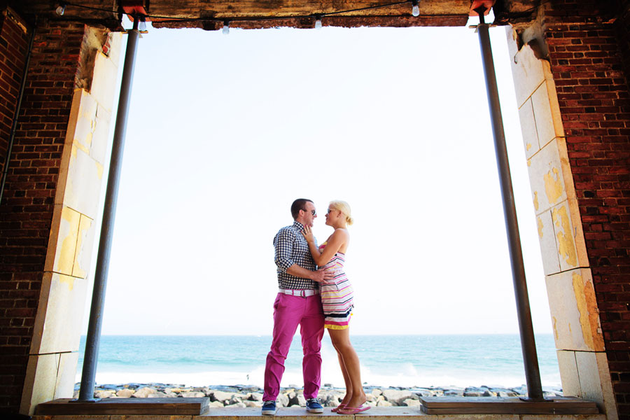 Adrienne & Paul Jersey Shore Pink Themed Engagement Photos Adagion Studio
