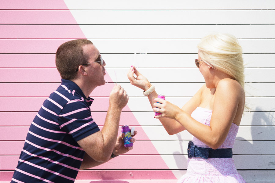 Adrienne & Paul Jersey Shore Pink Themed Engagement Photos Adagion Studio