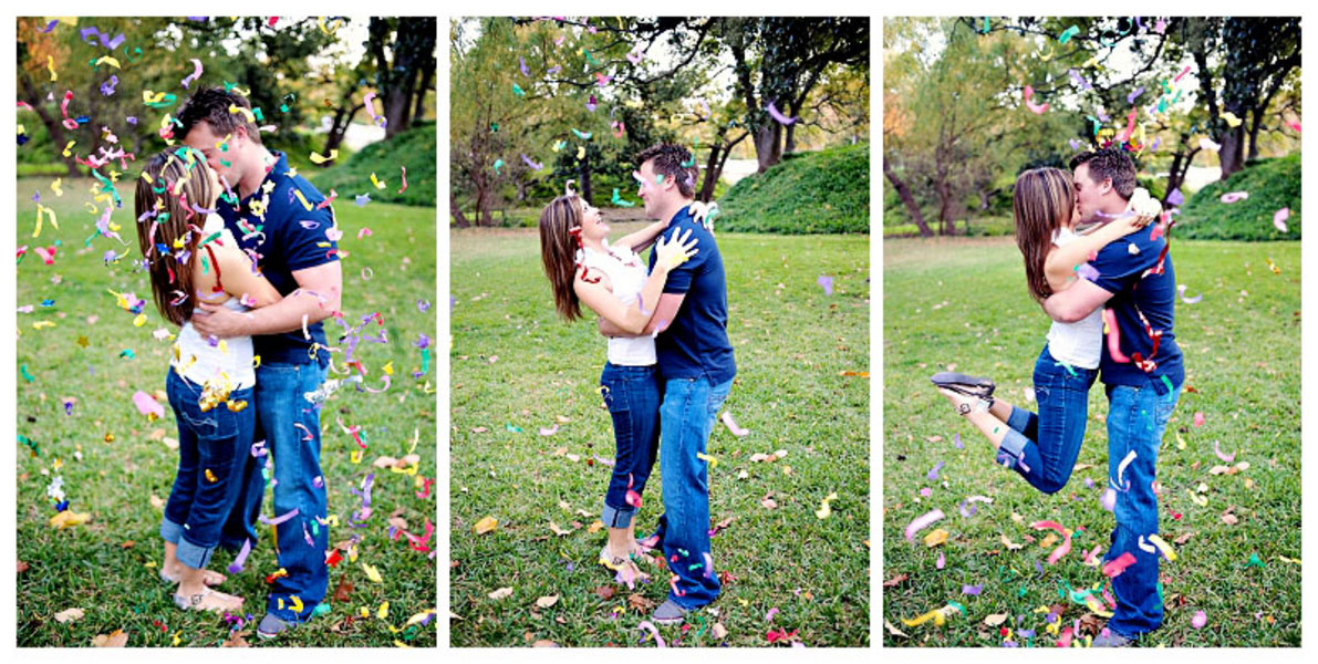 Elisabeth & Chris Confetti Engagement Session Kelly Rucker Photography