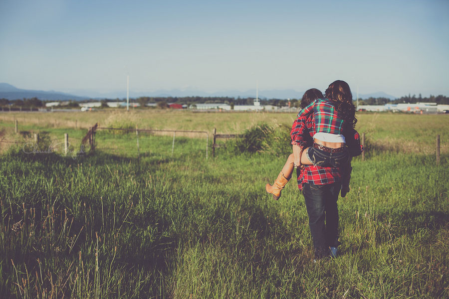 Hot Indie Summer Engagement Session On A Rural Farm In British Columbia | Photograph by Cherish Bryck Photography