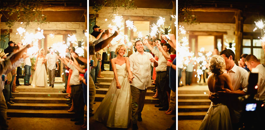 Country Chic Wedding Sparkler Send Off