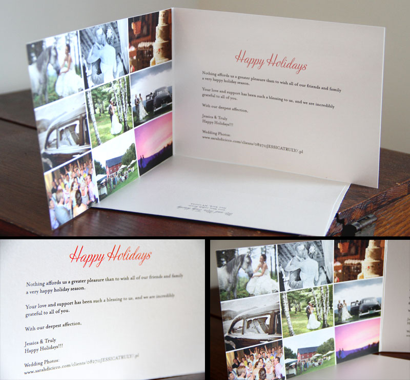 How We Combined Our Christmas Cards With Wedding Thank You Photograph By Storyboard