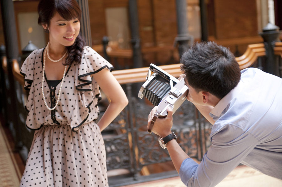 Christine_Mike_Vintage_Proposal_Bradbury_Building_Engagement_Session_The_Big_Affair_16