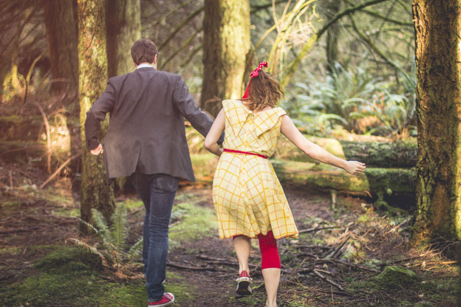 Outdoor Wooded Theater Engagement Session With All The Personality In The World |Photograph by Emmy Lou Virginia