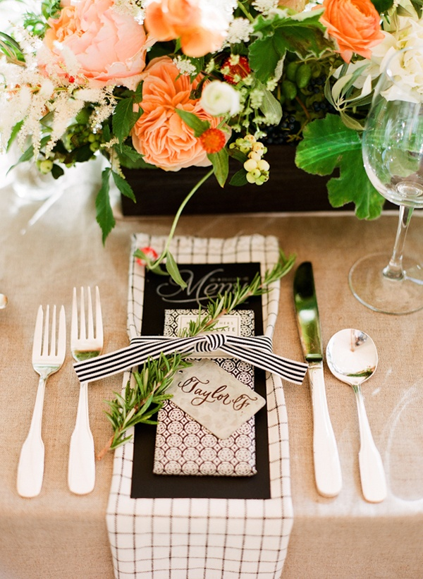 Chic Backyard BBQ Table Setting Robert Sukrachand Photography via OnceWed