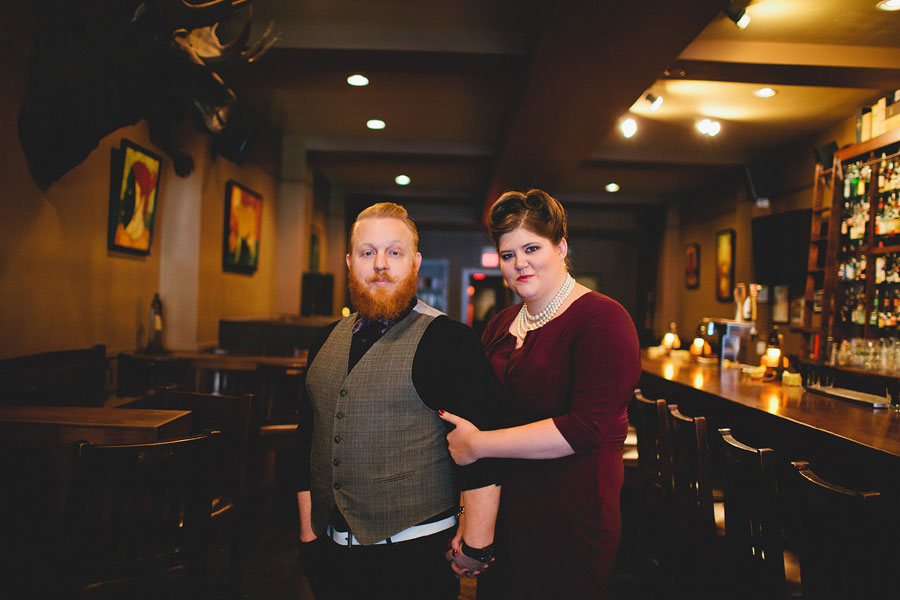 A Classy Edgy Distinguished Hipster & His Gorgeous Lady Visit The Last Unicorn For A Stellar Offbeat Engagement Session