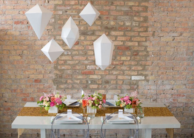 Geometric Styled Wedding By Indie Wed Amanda Megan Miller Photography via Green Wedding Shoes 8