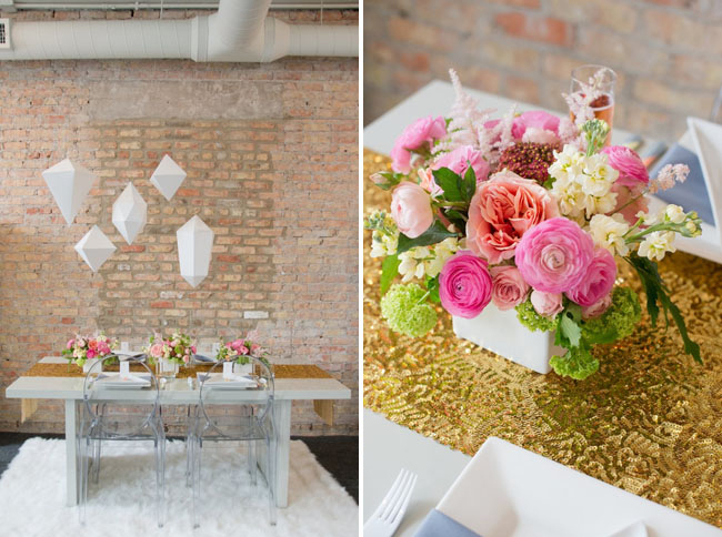 Geometric Styled Wedding By Indie Wed Amanda Megan Miller Photography via Green Wedding Shoes 9