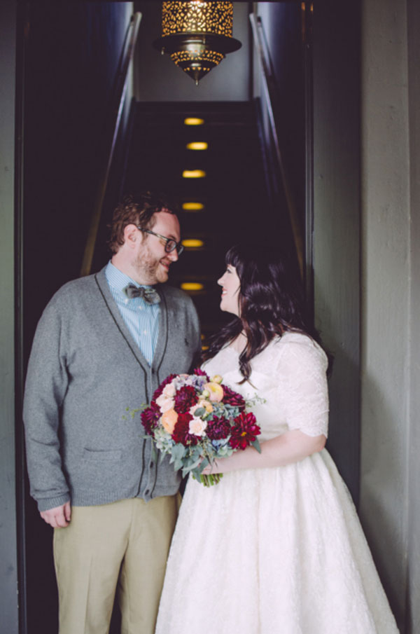 SXSW Engagement Leads To Gorgeous Vintage Inspired Art House Wedding At Hotel Saint Cecilia | Photograph by Suzuran Photography