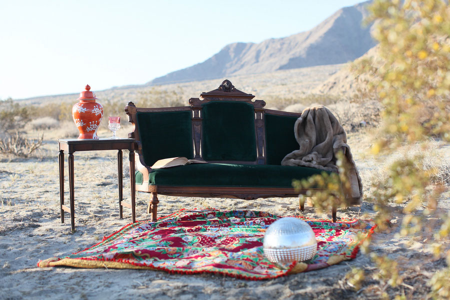 Enchantingly Mysterious Gypsy Boudoir Oasis In Feverish Palm Springs Desert | Photograph by Randi Marie Photography
