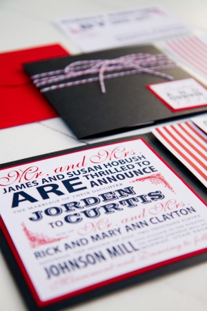Red White Blue Wedding Invitations via Oh So Beautiful Paper Pink Piggy Design Kate Osborne Photography 3