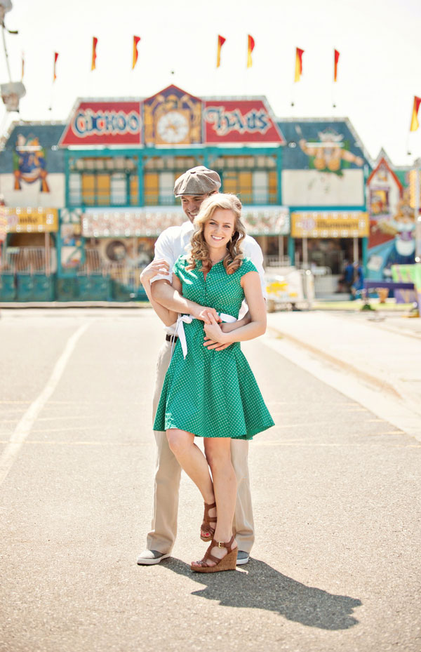 Vintage Carnival Engagement Photos Leah Moss Photography (4)