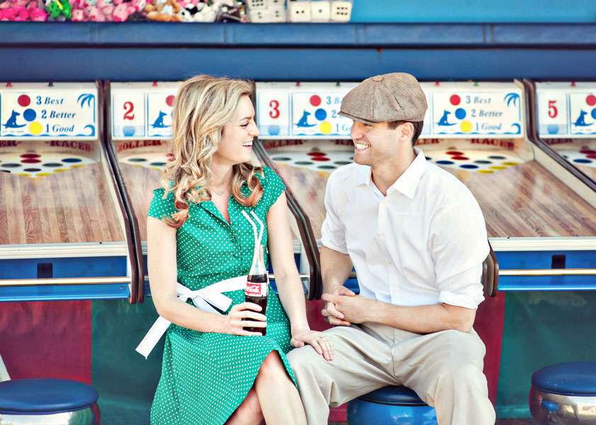 Vintage Carnival Engagement Photos Leah Moss Photography (7)