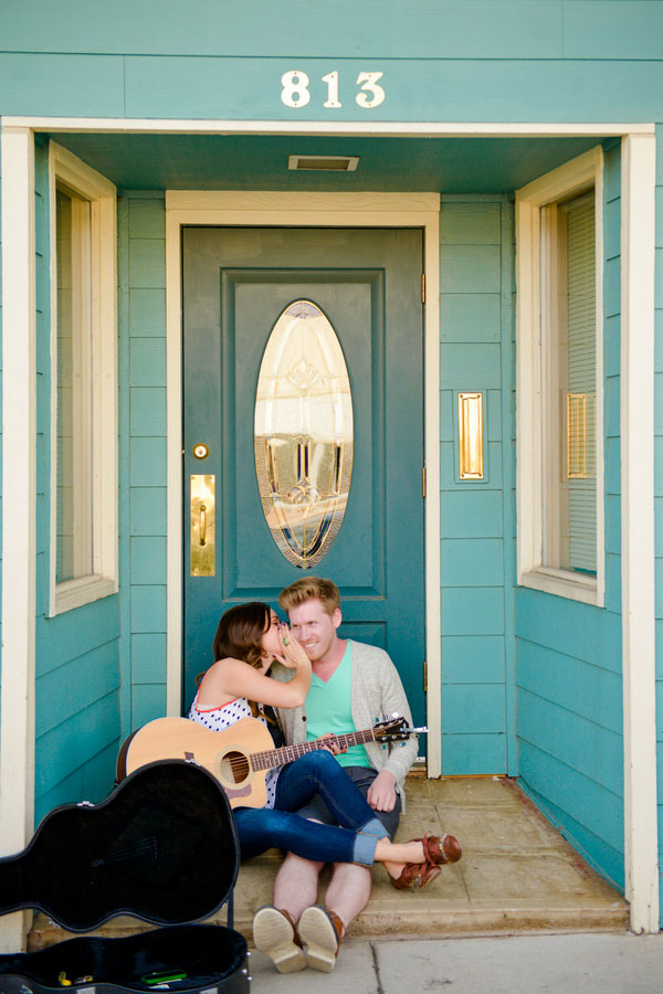 Love At First Sight Street Perform Engagement Session Complete With Getaway Moped & Glitter Fight