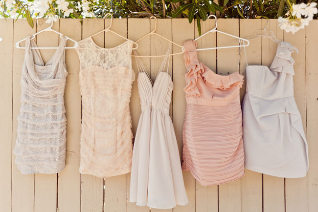Why It Works Wednesday: Mix Matched Bridesmaid Dresses In Creamy Neutral Tones