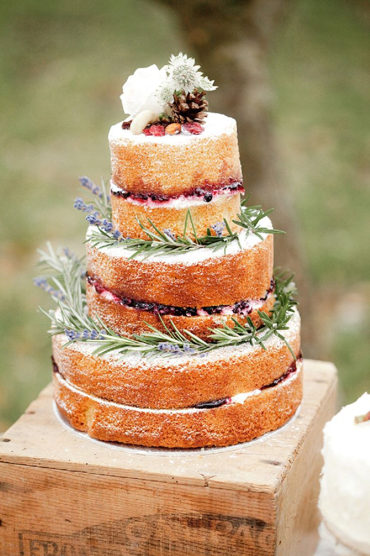 Naked Berry Cake with Rosemary via Style Me Pretty