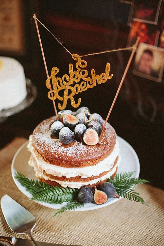 Naked Wedding Cake Figs via Love and Lavender